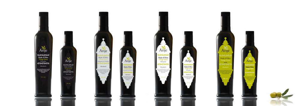 Packaging des 4 variétés d'huiles d'olives