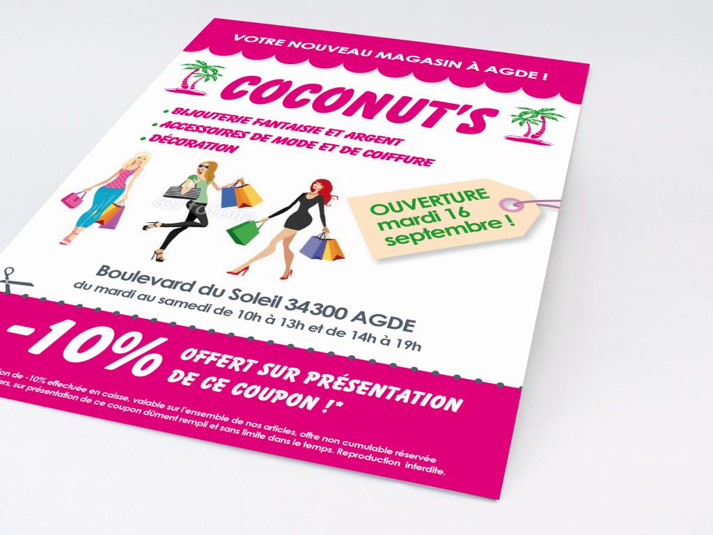 Adaptation de la charte et mise en page sur un flyer promotionnel A5