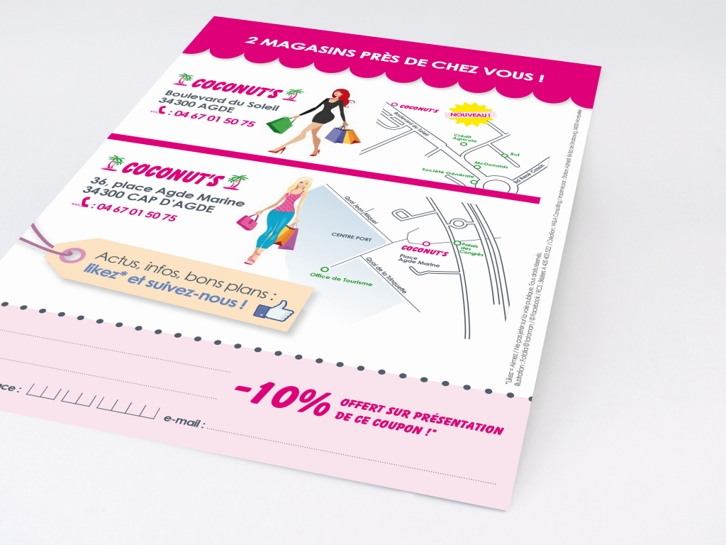 Adaptation de la charte et mise en page sur un flyer promotionnel A5 (verso)