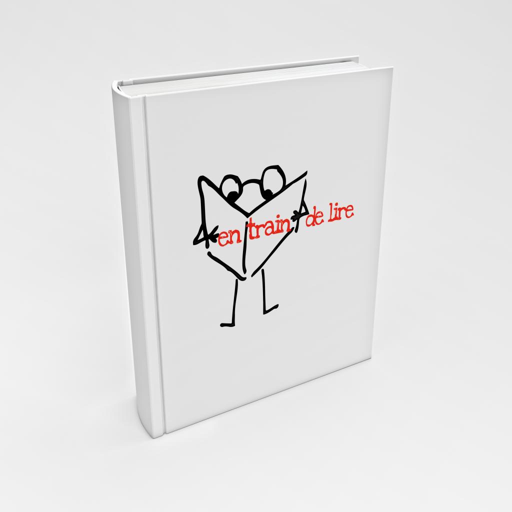 Concept du logo : le petit compagnon de lecture curieux