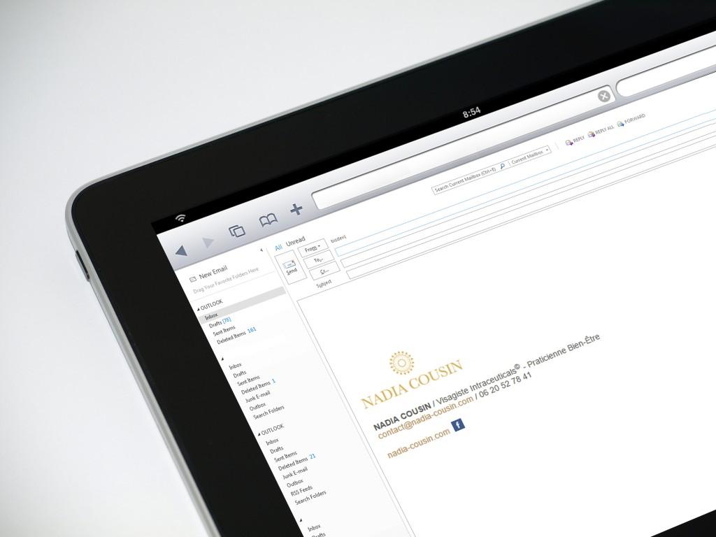 Signature d'email cliquable