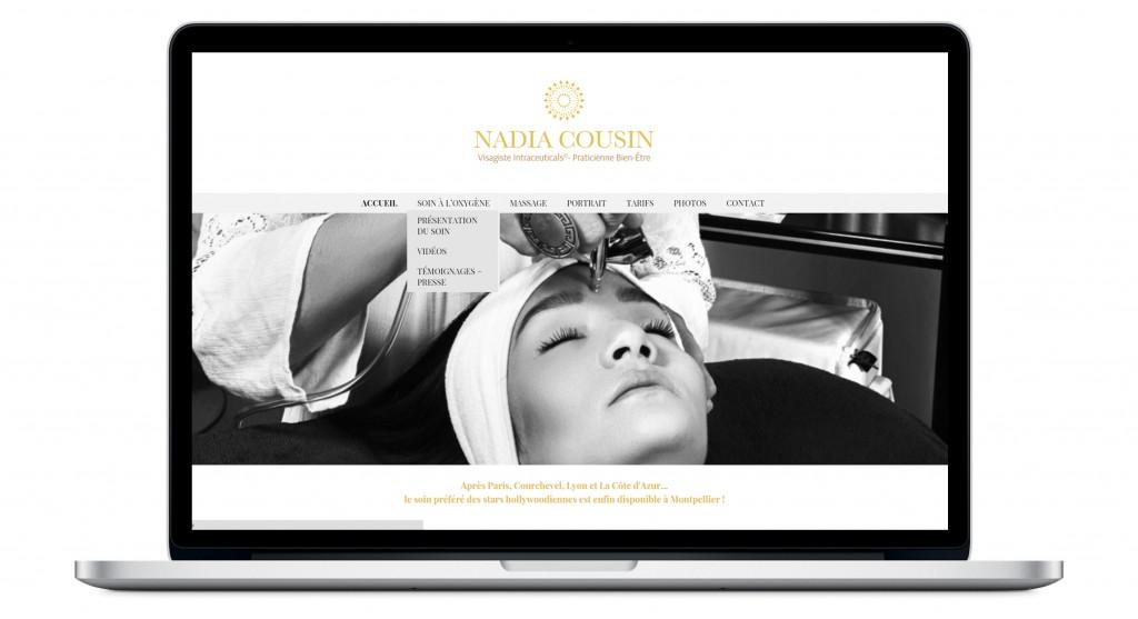 Page d'accueil du site Internet et menu déroulant